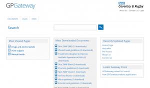 New Gateway screen shot